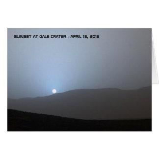 Cartão Por do sol marciano azul
