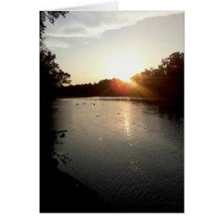 Cartão Por do sol no rio