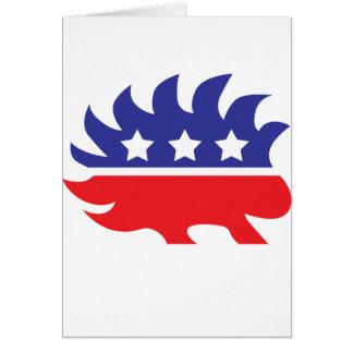 Cartão porco- do libertário