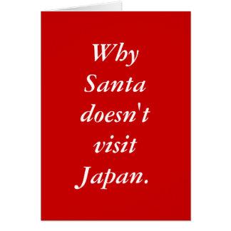 Cartão Porque o papai noel não visita Japão