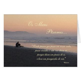 Cartão Português: Poema de Condolencias