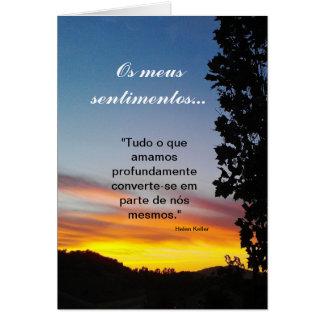 Cartão Português: sentimentos/simpatia Pêsames