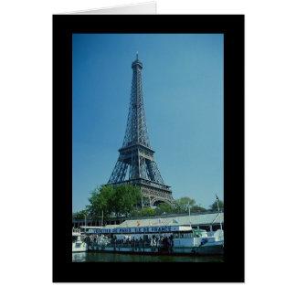 Cartão Possibilidade remota da torre Eiffel