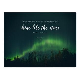 Cartão Postal 12:3 de Daniel - brilho como as estrelas