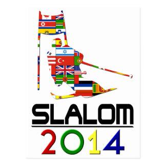 Cartão Postal 2014: Slalom