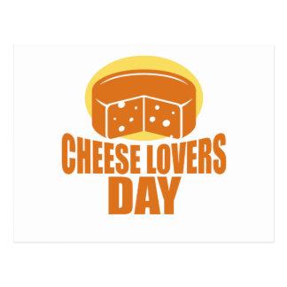 Cartão Postal 20 de janeiro - dia dos amantes do queijo