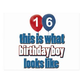 Cartão Postal 20o design do aniversário do ano