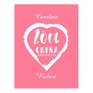 Cartão Postal 20o Porcelana tradicional do aniversário de