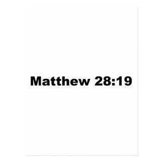 Cartão Postal 28:19 de Matthew