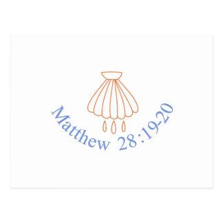 Cartão Postal 28:19 de Matthew - 20