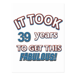 Cartão Postal 39th design do aniversário do ano