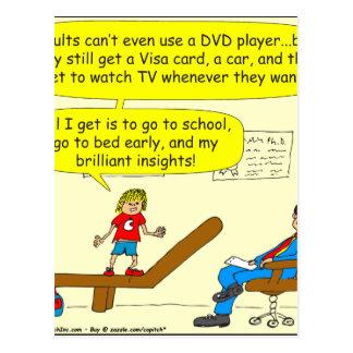 Cartão Postal 418 adultos chanfram desenhos animados do