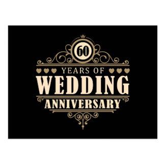 Cartão Postal 60th Aniversário de casamento