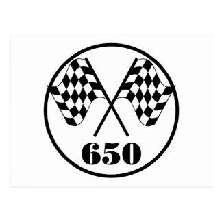 Cartão Postal 650 bandeiras Checkered