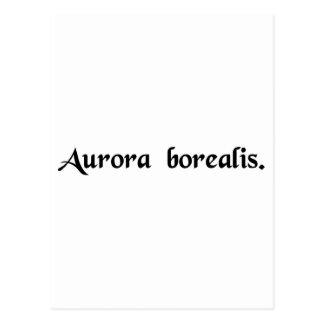 Cartão Postal A aurora boreal