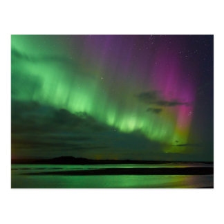 Cartão Postal A aurora boreal de Islândia