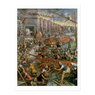 Cartão Postal A captação de Constantinople em 1204 (óleo no canv