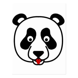 Cartão Postal A cara feliz da panda