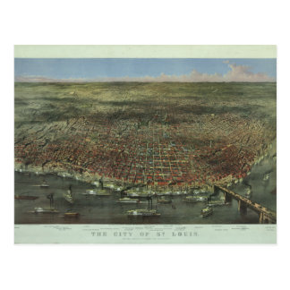 Cartão Postal A cidade de St Louis Missouri desde 1874