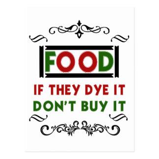 Cartão Postal a comida da tintura come a camisa do presente t