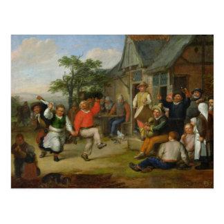 Cartão Postal A dança dos camponeses, 1678