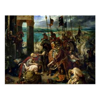 Cartão Postal A entrada dos cruzados em Constantinople