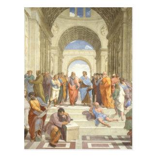 Cartão Postal A escola de Atenas