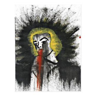Cartão Postal A estrela do sangramento