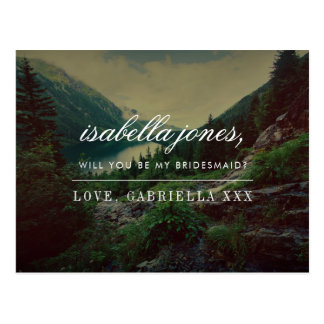 Cartão Postal A floresta romântica | você será minha dama de