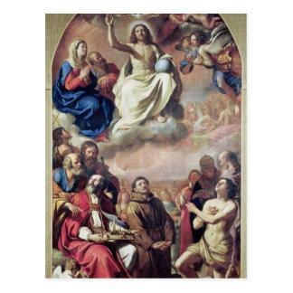 Cartão Postal A glória dos santos, 1645-47