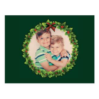 Custom Christmas Wreath Add Your Own Photo Family