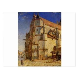 Cartão Postal A igreja em Moret na manhã Sun por Alfred