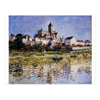 Cartão Postal A igreja em Vetheuil por Claude Monet