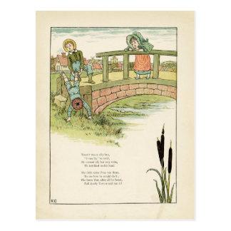 Cartão Postal A ilustração das crianças de Kate Greenaway