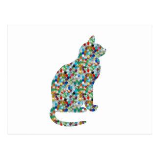 Cartão Postal A jóia EXTRAVAGANTE n apedreja CAT enchido -