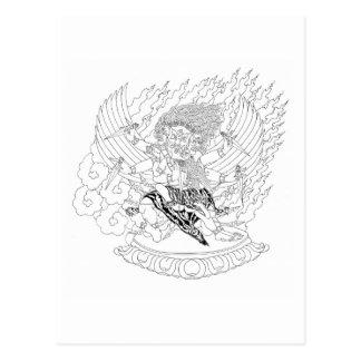 Cartão Postal A lápis desenho de Dorje Phurba [cartão]