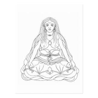 Cartão Postal A lápis desenho de Khandro Rig'dzin Takmo [cartão]