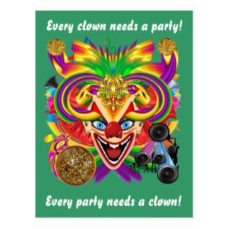 Cartão Postal A opinião do palhaço do carnaval nota por favor