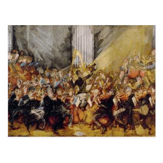 Cartão Postal A orquestra