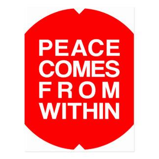 Cartão Postal A paz vem de dentro de