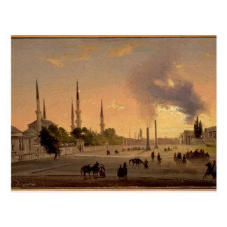 Cartão Postal A pista de corridas em Constantinople (óleo em