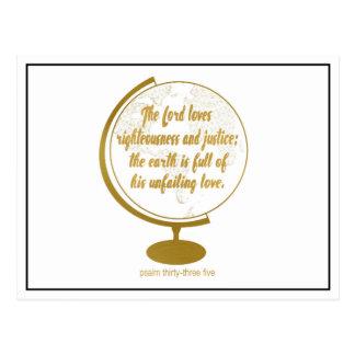 Cartão Postal A terra se cheio de seu amor infalível, ouro