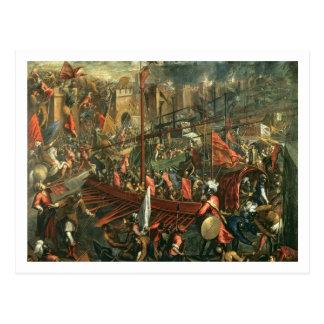 Cartão Postal A tomada de Constantinople (óleo em canvas)