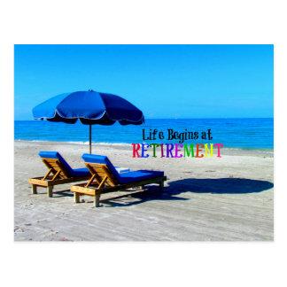 Cartão Postal A vida começa na aposentadoria