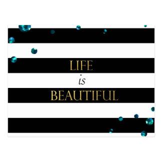 Cartão Postal A vida é cerceta bonita
