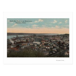 Cartão Postal Aberdeen, WA - opinião de olho de pássaro do