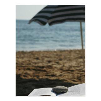 Cartão Postal Abra o livro com um rolo