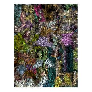 Cartão Postal Abstrato de Digitas da Multi-Cor