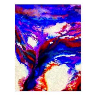 Cartão Postal Abstrato do cobalto e da violeta