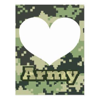 Cartão Postal Adicione seu próprio coração do exército da foto